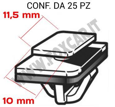 Molla per modanatura porta e il fascione laterale su Hyundai vari modelli