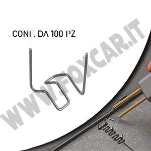 Graffette in acciaio per la plastica