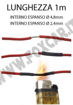 Guaina termorestringente diametro da 4,8 mm a 2,4 mm