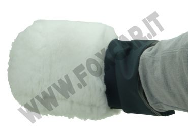 Guanto per lavaggio in materiale sintetico, modello Lusso