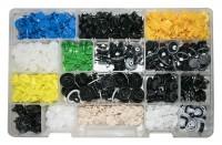 Kit di 525 bottoni fermapannelli in plastica per fissare i pannelli de...