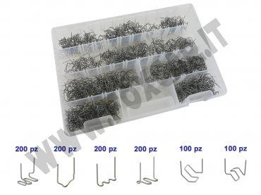 Kit 1000 graffette saldatura plastica