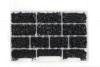 Scatola contenente 1325 viti autofilettanti testa bombata a croce zinc...
