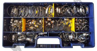 Kit di 140 fascette in acciaio a vite, con fascia da 9 mm per manicotti e tubi in   gomma