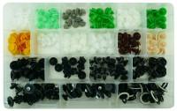Kit di 220 bottoni in plastica per pannelli porta per auto Tedesche
