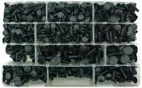 Kit di 800 bottoni in plastica a fungo con gradini per fissaggi vari