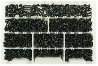 Kit 900 viti autofilettanti testa larga con impronta TORX zincate nere