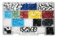 Kit di 910 madreviti in plastica formato da 18 modelli