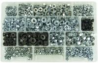 Kit assortimento di 1100 dadi misti con misure M5, M6, M8 normali, ron...