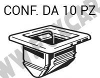 Boccola rivestimento cofano motore Fiat Nuova 500 e Alfa Romeo Mito