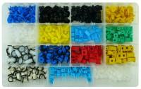 Kit di 425 bottoni e madreviti in plastica per pannelli porte e portel...