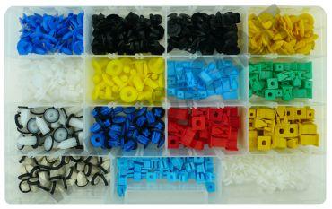 Kit di 425 bottoni e madreviti in plastica per pannelli porte e portelloni