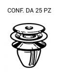 Bottone bianco per fissaggi pannelli e mascherine su Mazda vari modell...