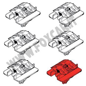 Kit di 6 clips fissaggio modanatura Renault Clio 2 serie