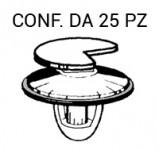 Mollettina, bottone ferma pannello porta in plastica con guarnizione p...