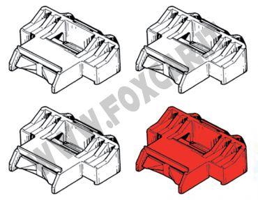 Kit 4 clips fissaggio modanatura Renault Clio 1 serie e R19
