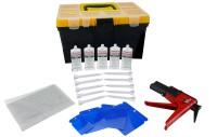 Kit riparazione plastica paraurti e carrozzeria con colla poliuretanic...