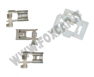 Connettore spina per fari H4. Kit con connettore e 3 faston a 90°t