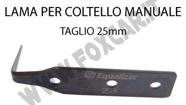 Lama per coltello manuale per taglio sigillante parabrezza 25 mm
