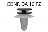 Bottone in plastica con boccola per fermapannello e rivestimento Fiat ...