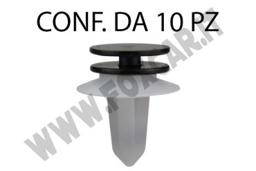 Bottone in plastica con boccola per fermapannello e rivestimento Fiat Bravo dal   2007 e nuova Lancia Delta