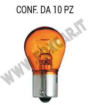 Lampadina a 1 filamento 12 volt 21 Watt arancione
