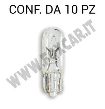 Lampadina microvetro 12V 1.2W per luci cruscotti