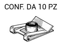 Prestola in ferro 16 x 23,9 mm con filetto M6