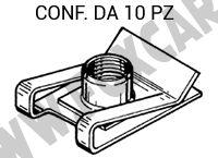 Madrevite in ferro 16 x 24 mm con filetto M6