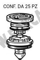 Bottone molletta fermapannello porta per Audi A5, A4, Q5, Q7, VW Caddy, Golf, Polo   Scirocco Touareg