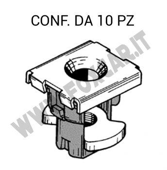 Madrevite in plastica e ferro per fissaggio parafango su Fiat e Lancia vari modelli