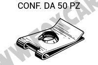 Madrevite in acciaio misure 24,6 x 16,2 mm per viti da 6,3 mm