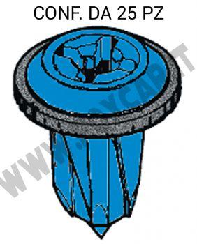 Madrevite in plastica con guarnizione per fissaggio pannelli su Fiat, Lancia, Alfa   Romeo vari modelli