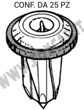 Madrevite in plastica con guarnizione per fissaggi vari Fiat