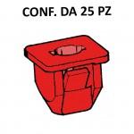 Madrevite in plastica di colore rosso per fissaggio paraurti Fiat, Lan...