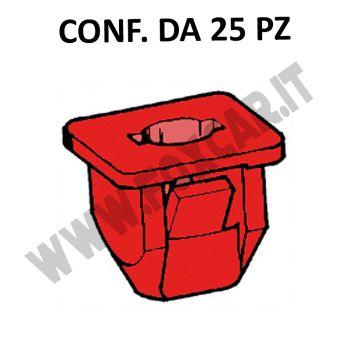 Madrevite in plastica di colore rosso per fissaggio paraurti Fiat, Lancia, Alfa   vari modelli