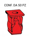 Tassello per carrozzeria ad espansione in plastica per foro con lato d...