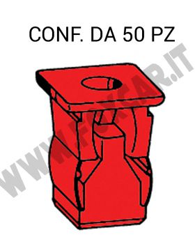 Tassello per carrozzeria ad espansione in plastica per foro con lato da 10 mm e   vite da 4,8 mm
