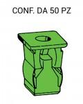 Madrevite in plastica ad espansione per foro con lato 9 mm e vite 4,2 ...