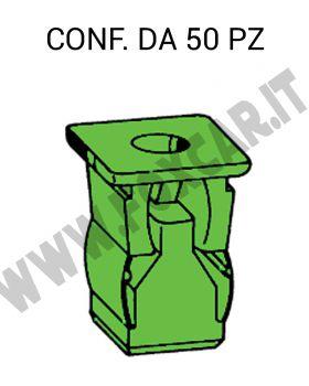 Madrevite in plastica ad espansione per foro con lato quadro 9 mm e vite 4,2 mm
