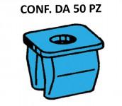 Tassello in plastica di colore blu per foro con lato 8 mm e vite 3,5 m...