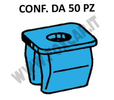 Tassello in plastica di colore blu per foro con lato 8 mm e vite 3,5 mm per applicazioni   universali