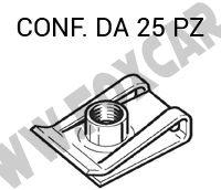 Madrevite metallica con filetto M4