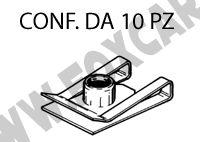 Madreviti metalliche da 20,5 x 14,1 mm per viti filettate M5