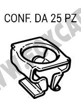 Fermo in metallo fissaggio Audi, Seat, VW