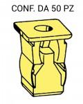 Madrevite di fissaggio in plastica di colore giallo per foro con lato ...