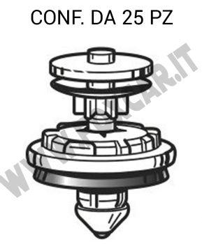 Bottone in plastica fermapannello porta per VW, Audi, Skoda vari modelli