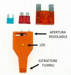 Mini tester per fusibili con estrattore