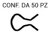 Molla per maniglia alzavetro tipo lungo zincata nera per Fiat 500