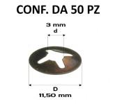 Piastrine tonde per perni da 3 mm